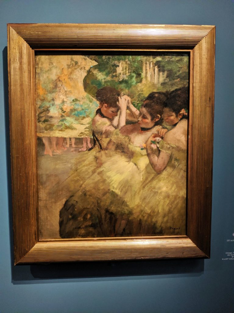 Degas three women