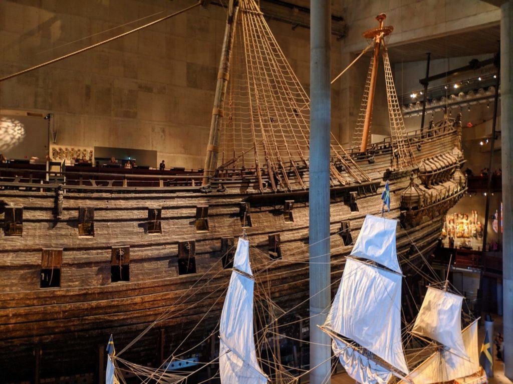 Scandinavian Vasa Ship from the side