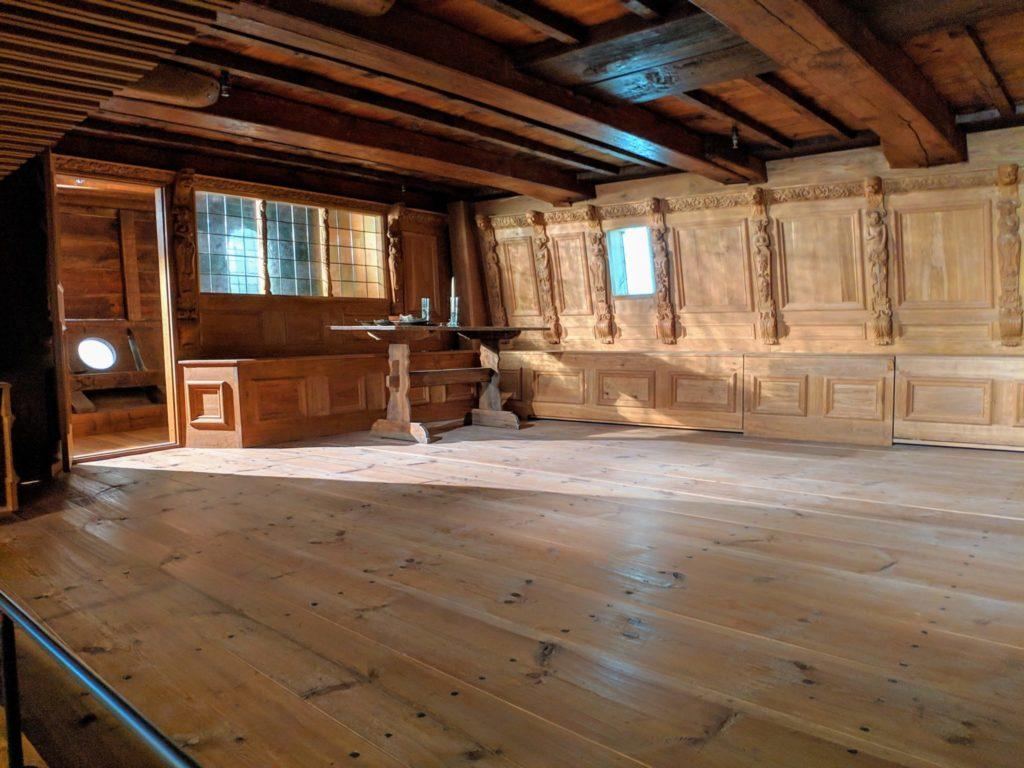 Scandinavian Vasa Ship from the inside