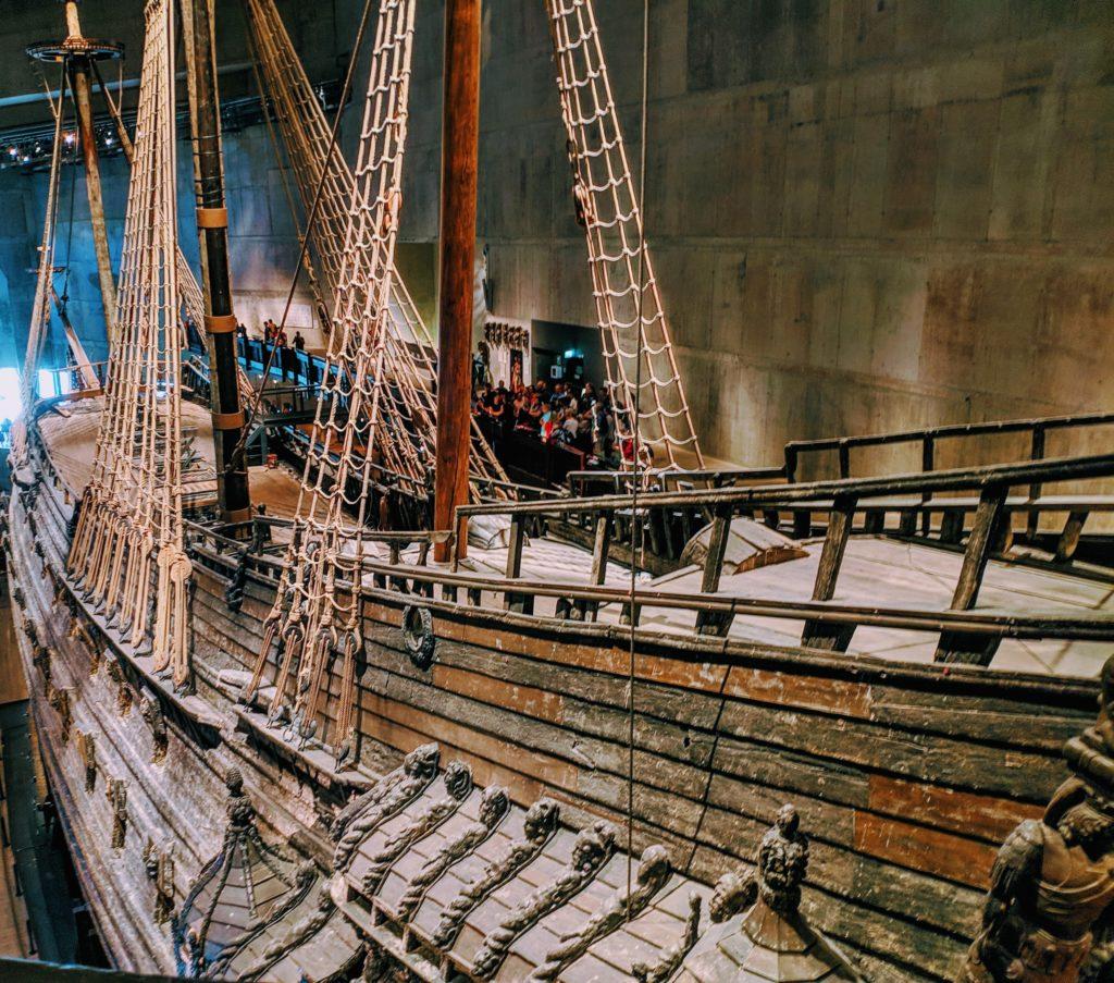 Scandinavian Vasa Ship top view