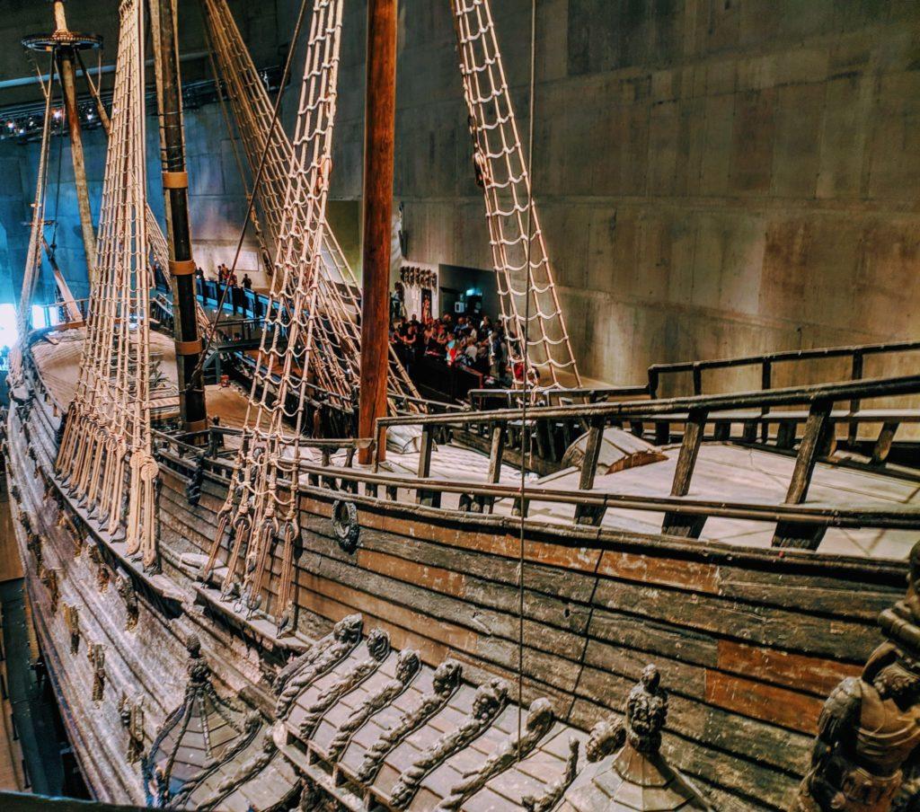 Scandynawia - Okręt Wojenny Vasa widok z góry.