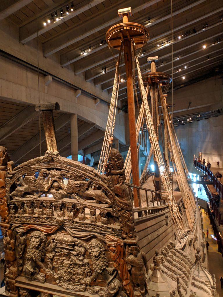 Scandinavian Vasa Ship from back