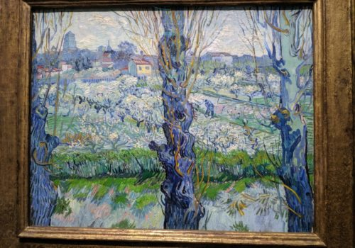 Van Gogh, View of Arles, flowering orchards