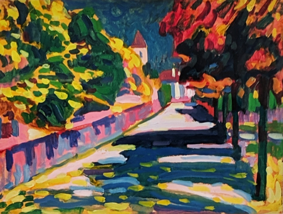 """Autumn in Bavaria,"" 1908, by Wassily Kandinsky."