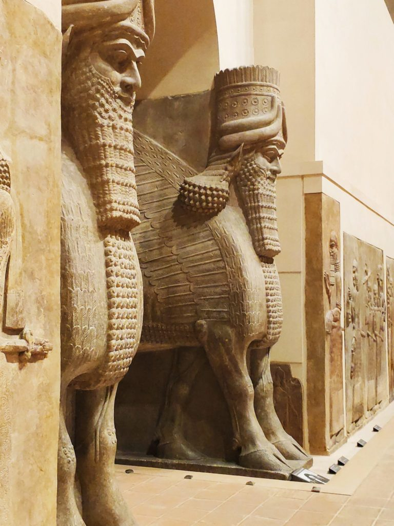 Paris Louvre 3,000-year-old reliefs from the Assyrian city of Nimrud