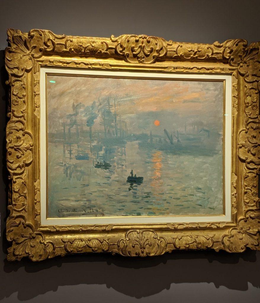 Monet's impression of sunrise, Paris