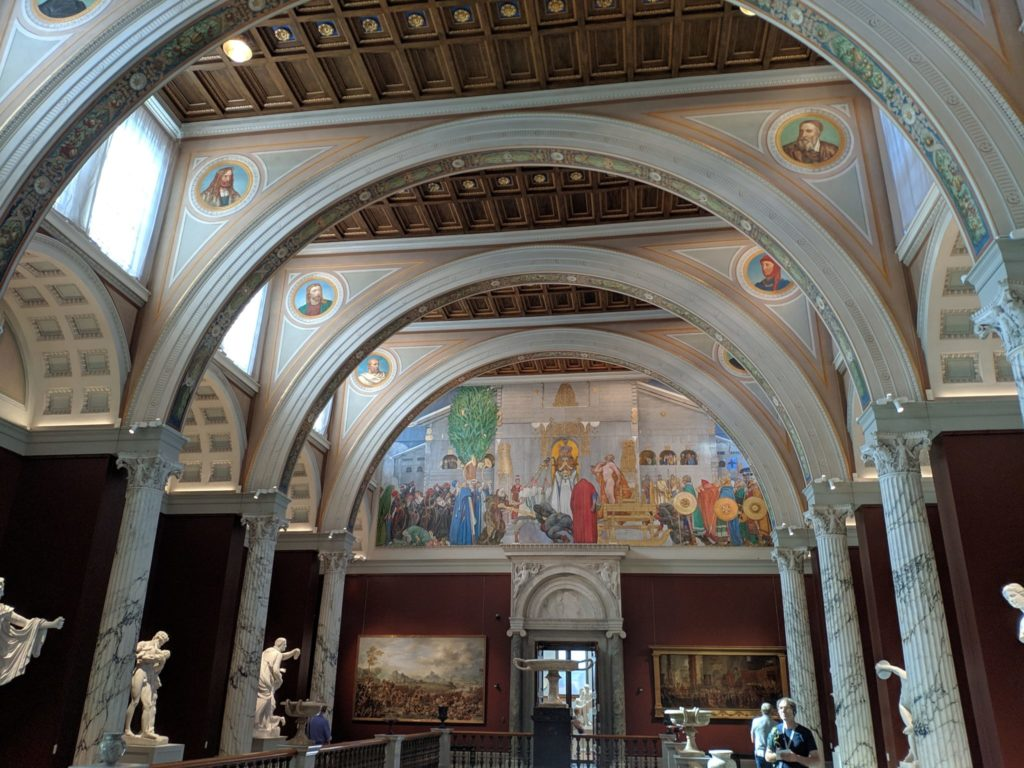 The inside of the Nationalmuseum in Scandinavia, Stockholm
