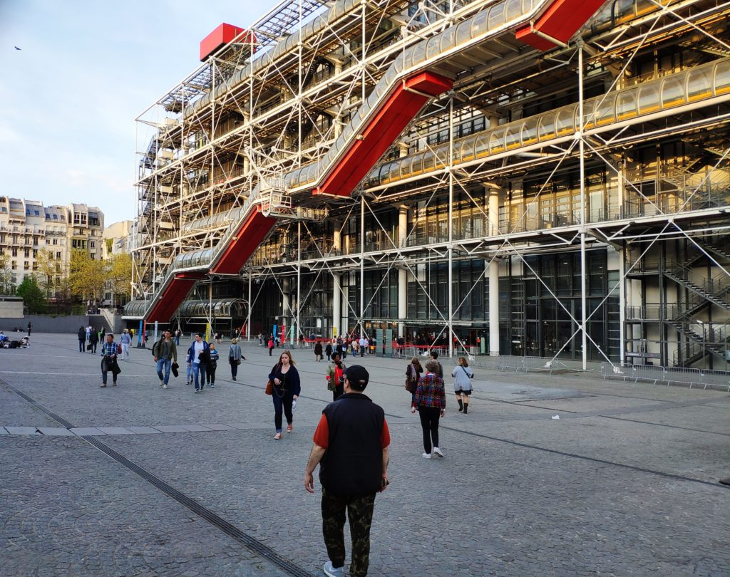 When architect Richard Rogers told a woman passing by the Pompidou Centre that he designed it, she hit him with her umbrella.  However, virtually everyone agrees that the museum and restaurant on top of the Pompidou offer the finest views of Paris.