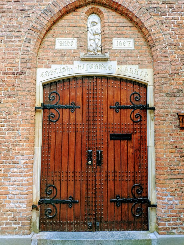 The door in the Begijnhof courtyard