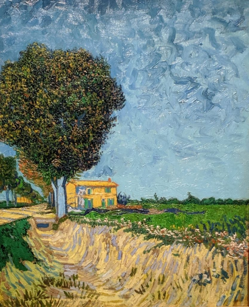 """Alley near Arles"", 1888, by van Gogh"