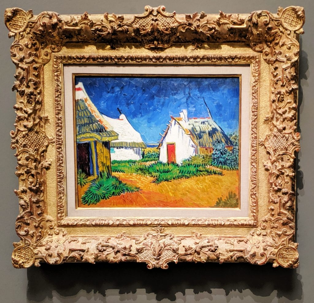 White Cottages at Saintes-Maries, 1888, by van Gogh.