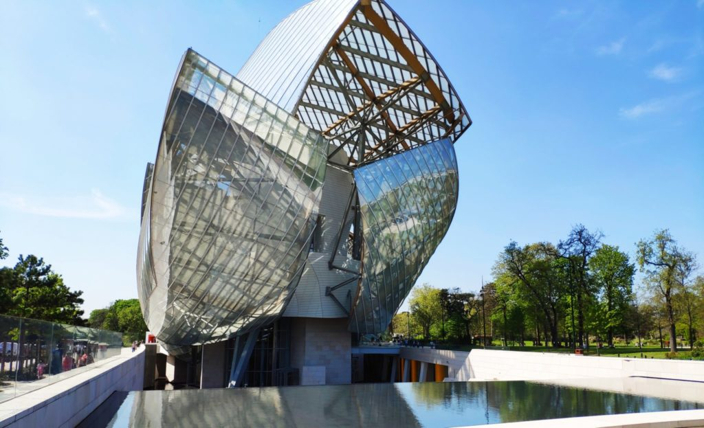 Exterior view of the Fondation Vuitton in Paris