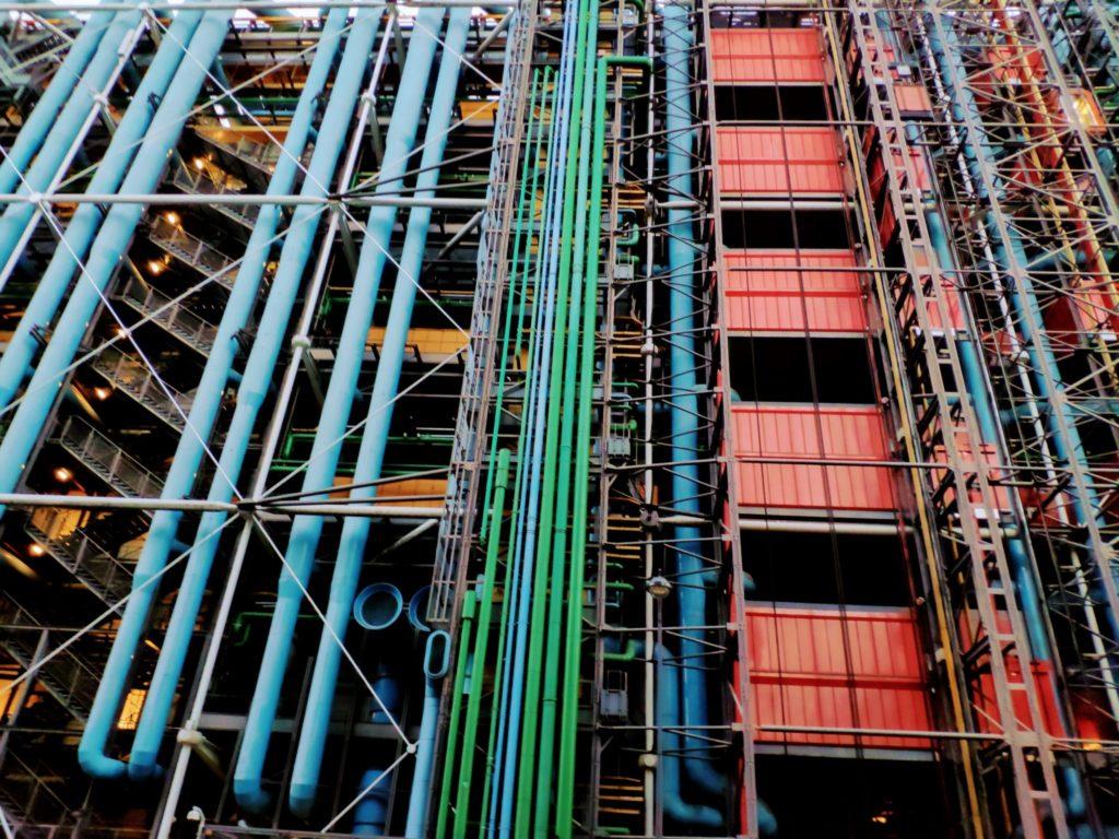 Exterior of the Centre Pompidou in Paris