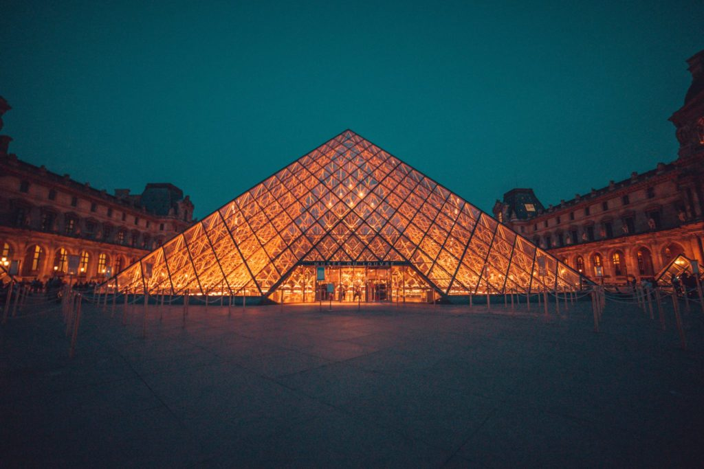 The pyramid of Louvre Paris