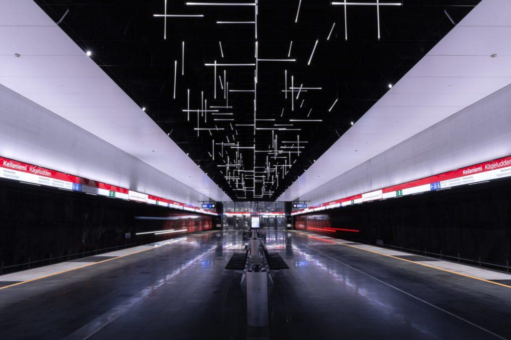 Keilaniemi subway station in Espoo, Finland, Skandynawia