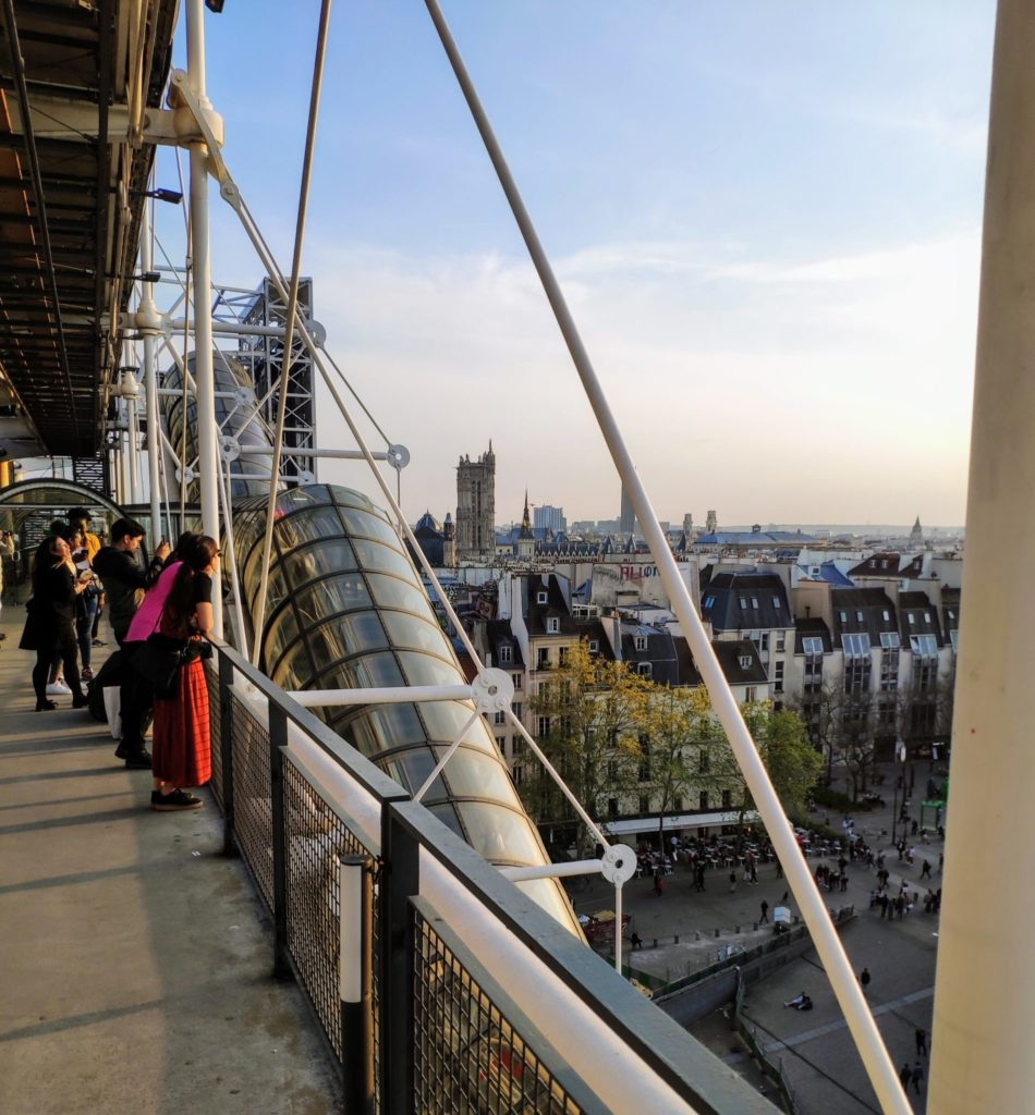 Paris Pompidou View from Museum