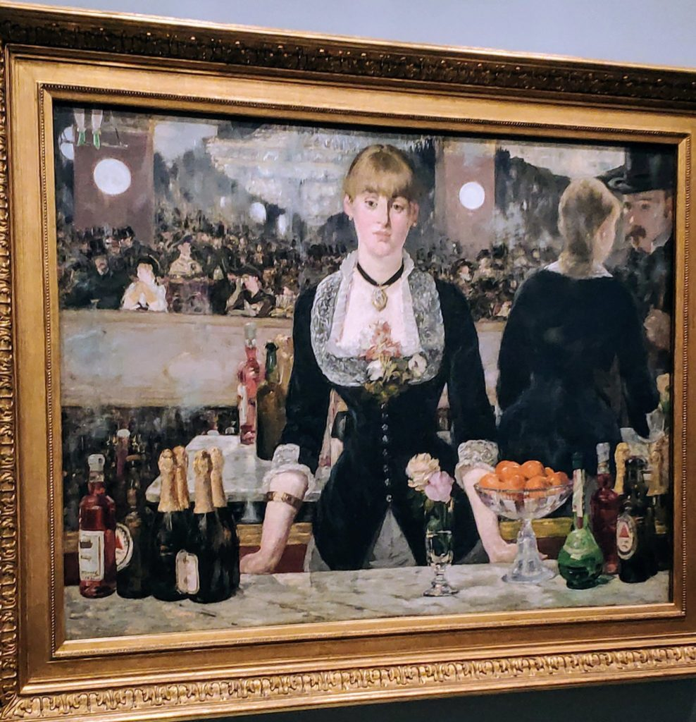 """A Bar at the Folies-Bergère"" by Edouard Manet was loaned to the Vuitton, Paris in 2019.  Paintings from Russia's Hermitage, Pushkin & Tretyakov collections will be shown in 2020."