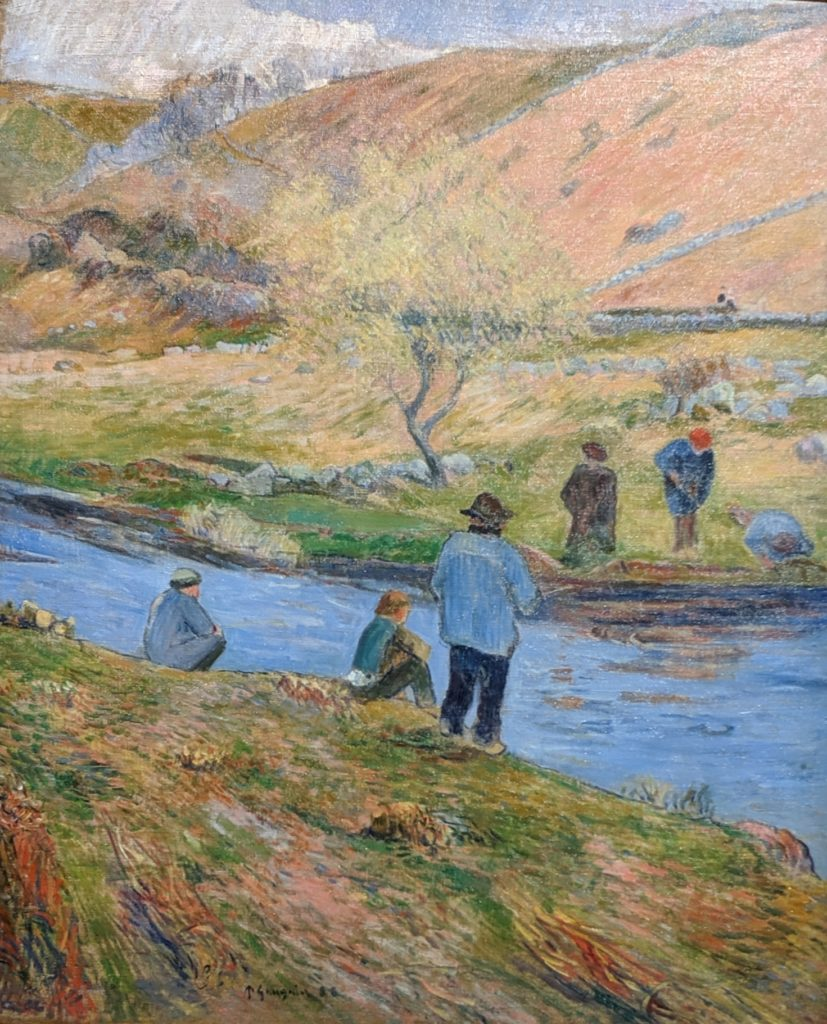 Private Collection - Gauguin - Breton Fishermen