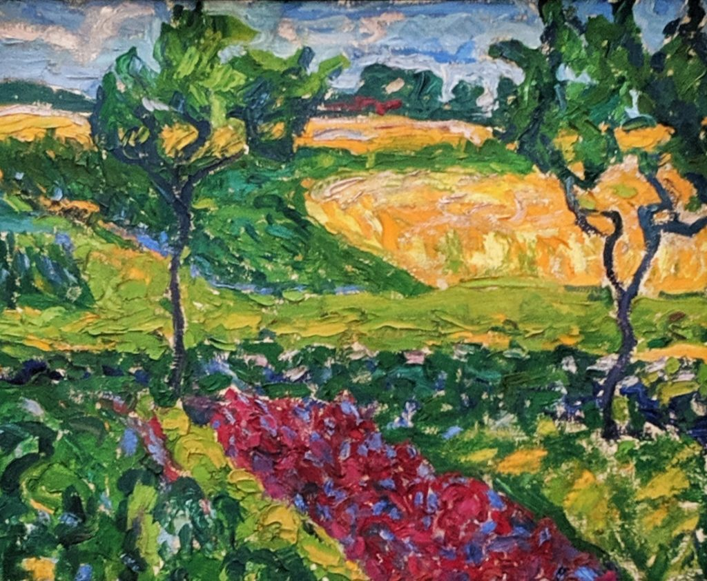 """Landscape in Dangast, 1908, by Erich Heckel"