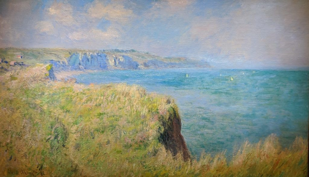 Private Collection - Monet - Cliffs and Sailboats at pourville