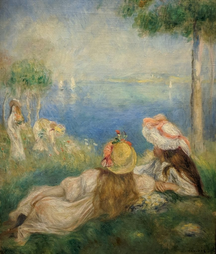Impressionist, Renoir, Young Girls by the Sea