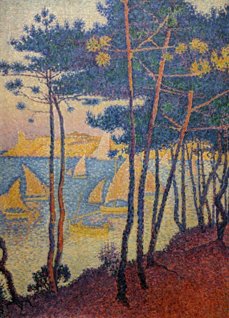 Tajni Impresjoniści - Signac-sailing-boats-and-pine-trees
