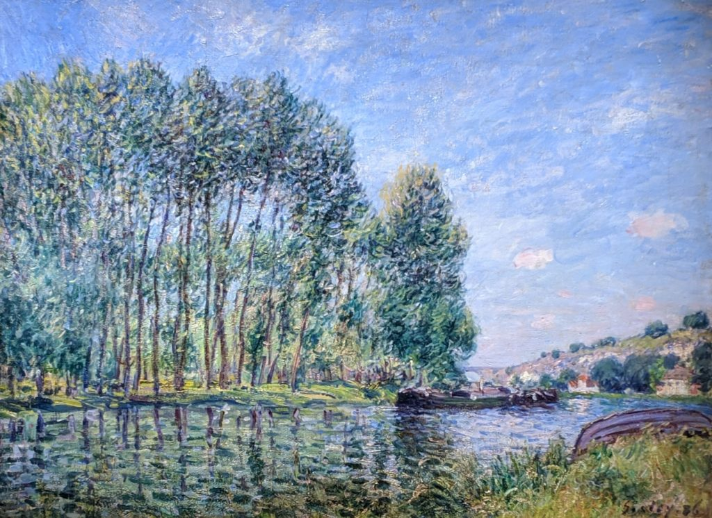 Private collection Sisley - A Bend in the loing at moret