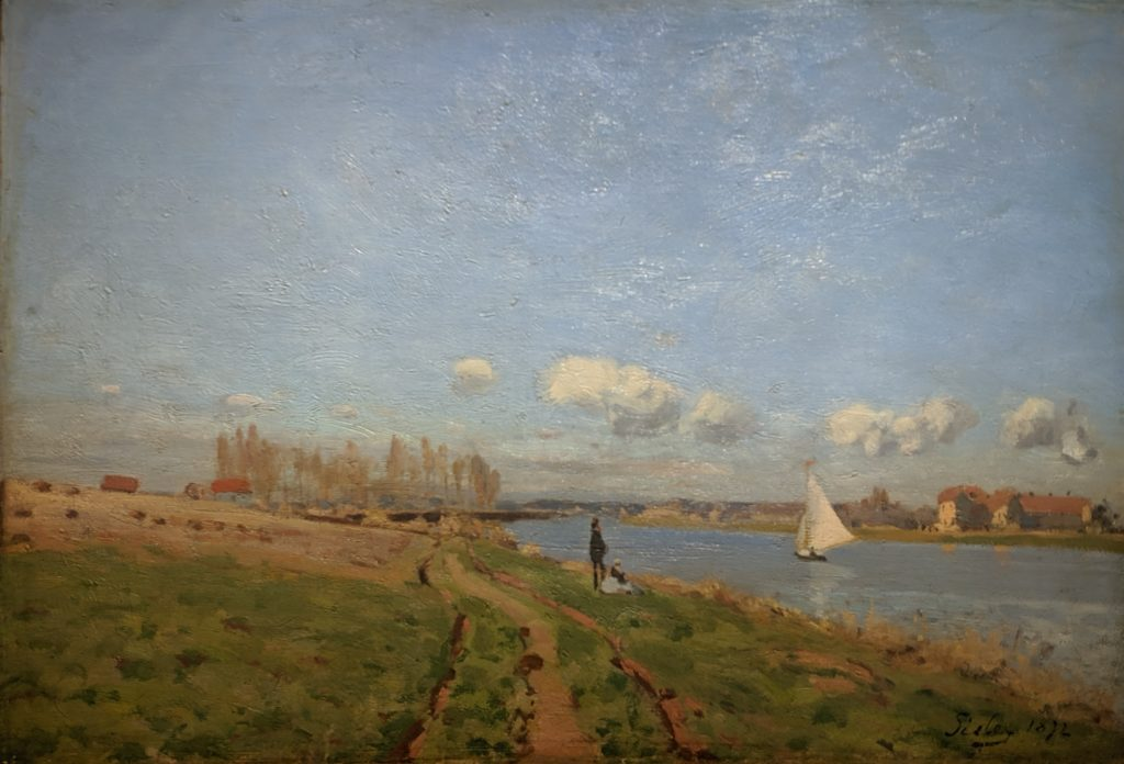 Private Collection - Sisley - Banks of the seine at argenteuil