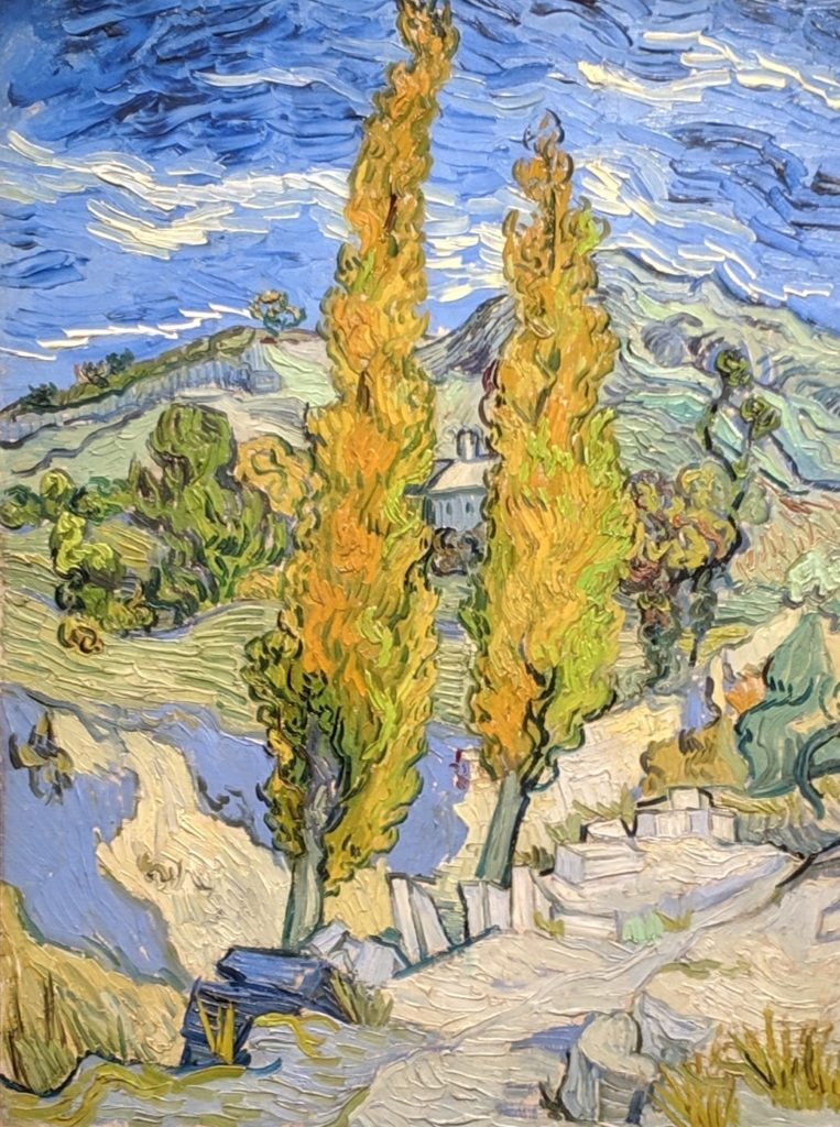 """The Poplars at Saint-Rémy,"" 1889, by van Gogh"