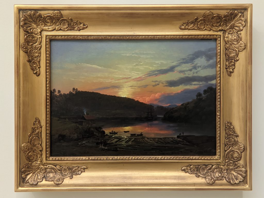 Expressionism, Landscape at Skien in the sunset