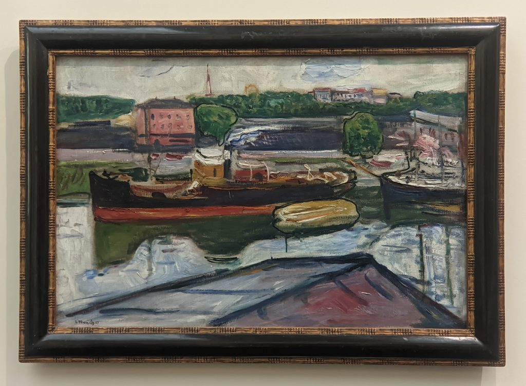 Expressionism, The Harbour of Lübeck
